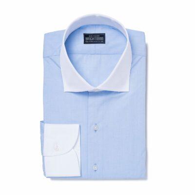 Sky-blue-dress-shirt-with-white-collar